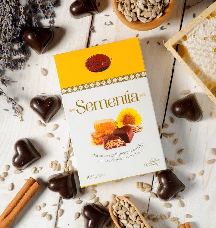 """Seminte in ciocolata """"Sementia"""" Rifero 100g"""
