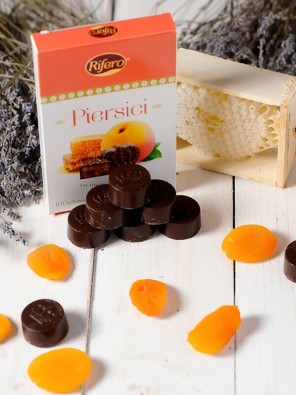 Piersici in ciocolata Rifero 100g